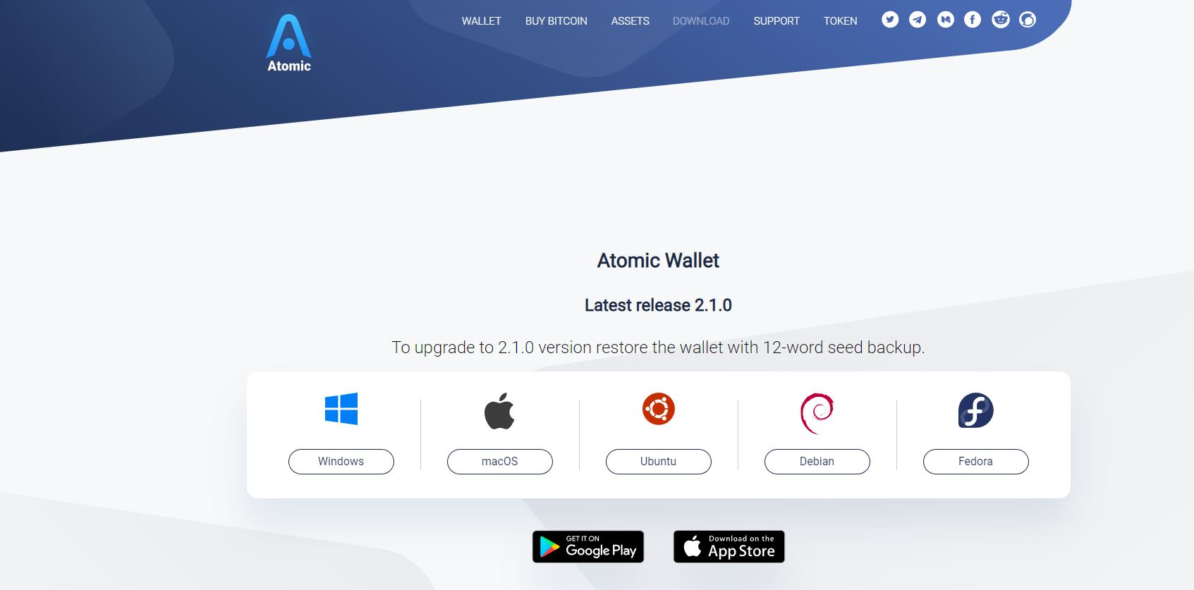 Universal Cryptocurrency Wallet with Decentralized Atomic