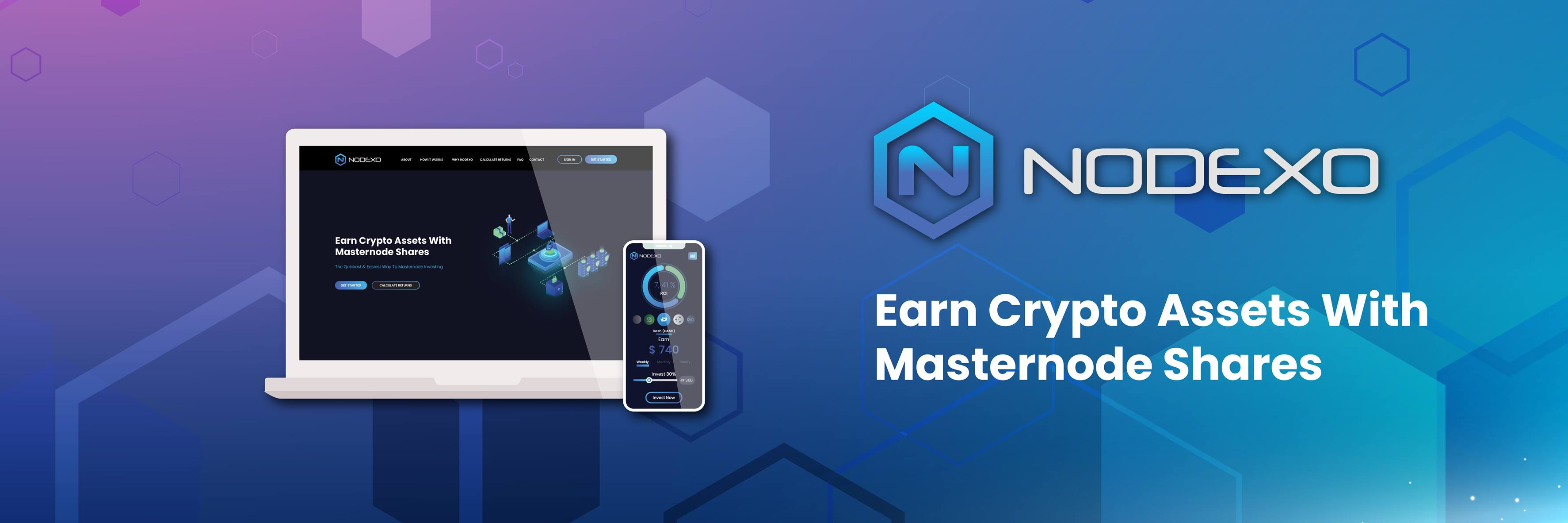 Nodexo - Earn Crypto Assets With Masternode Shares • Newbium